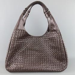 BOTTEGA VENETA Brown Woven Intrecciato Leather Campana Hobo Bag
