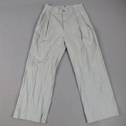 BOTTEGA VENETA Size 31 Light Teal Blue Textured Cotton Wide Leg Pants
