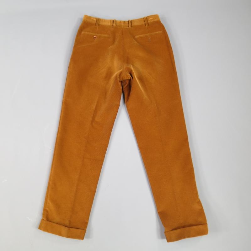 BRIONI Size 31 Brown Corduroy Cuffed Hem Dress Pants | Sui Generis ...