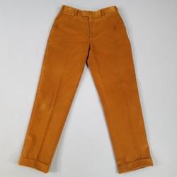 BRIONI Size 31 Brown Corduroy Cuffed Hem Dress Pants