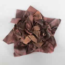 BRUNELLO CUCINELLI Brown Leather Flower Clip