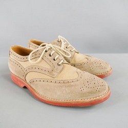 BRUNELLO CUCINELLI Size 10 Taupe Canvas Lace Up