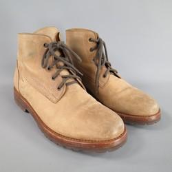 BRUNELLO CUCINELLI Size 11 Tan Leather Commando Sole Boots