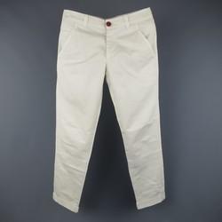 BRUNELLO CUCINELLI Size 30 Bone Stripe Khaki Cotton Chino Pants