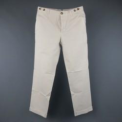 BRUNELLO CUCINELLI Size 31 Bone Khaki Cotton Chino Pants