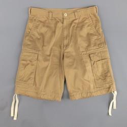 BRUNELLO CUCINELLI Size 32 Tan Khaki Cotton Twill Cargo Shorts