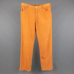 BRUNELLO CUCINELLI Size 35 Orange Solid Corduroy Casual Pants