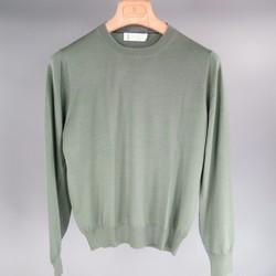 BRUNELLO CUCINELLI Size XS Green Wool / Cashmere Crew-Neck Pullover