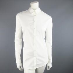 BURBERRY LONDON Size 18 White Cotton Blend Dress Shirt