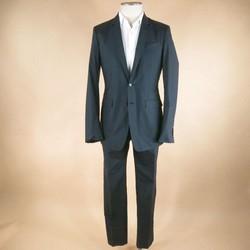 BURBERRY PRORSUM 36 Regular Charcoal Solid Cotton 30 32 Suit