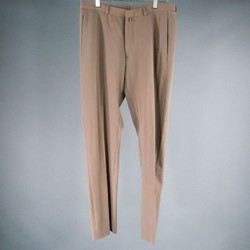 BURBERRY PRORSUM Size 32 Taupe Solid Wool Dress Pants