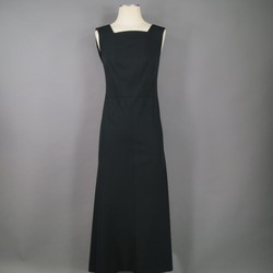 CHANEL Size 4 Black Wool Gown/Evening Wear