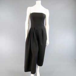 CHRISTIAN DIOR Size 4 Black Half Pleated Trouser Bustier Jumpsuit
