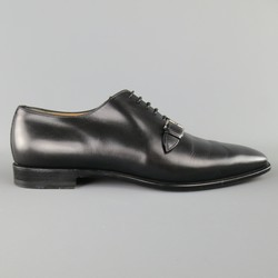 CHRISTIAN LOUBOUTIN Size 9 Black Leather CAPRI FLAT Monk Strap Lace Up
