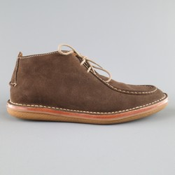 COLE HAAN x TODD SNYDER Size 11 Brown Contrast Stitch Suede Desert Boots