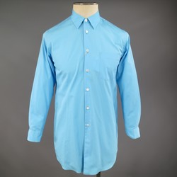 COMME des GARCONS Size XS Blue Cotton Extra Long Collared Long Sleeve Shirt
