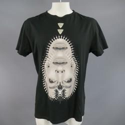 COUNTY OF MILAN by MARCELO BURLON Size M Black Diamond Lady Face T-shirt