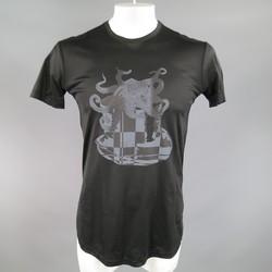 CROQUIS Size M Black Cotton Squid Graphic T-shirt