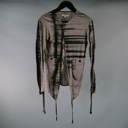 DAMIR DOMA Size S Gray Print Linen Cardigan