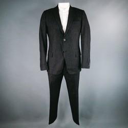 DANIELE ALESSANDRINI 44 Short Charcoal Wool 34 31 Suit