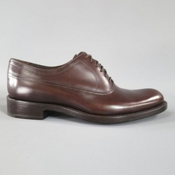 DIOR HOMME Size 7 Brown Leather Pointed Toe Lace Up Derby