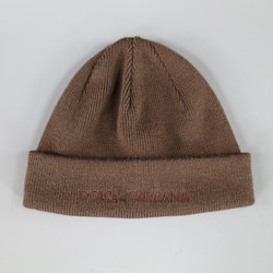 DOLCE & GABBANA Brown Wool Blend knitted beanie