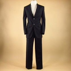 DOLCE & GABBANA Size 38 Regular Wool Black 32 30 Suit