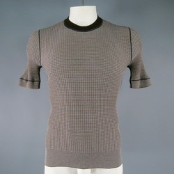 DOLCE & GABBANA Size M Brown Ribbed Polyester Blend Pullover