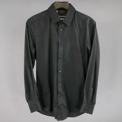 DOLCE & GABBANA Size S Black Cotton Long Sleeve Shirt