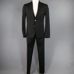 DSQUARED2 42 Short Black Wool Blend 33 35 Suit