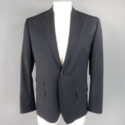DSQUARED2 Regular Navy Solid Wool Sport Coat