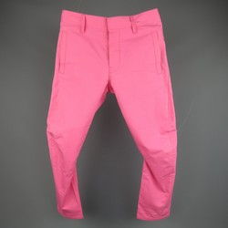 DSQUARED2 Size 30 Hot Pink Solid Cotton Casual Pants