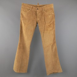 DSQUARED2 Size 30 Tan Solid Corduroy Home Is Where The Heart Is Pants