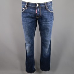 DSQUARED2 Size 34 Washed Indigo Denim Jeans