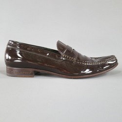 DSQUARED2 Size 8 Brown Patent Leather Penny Loafers