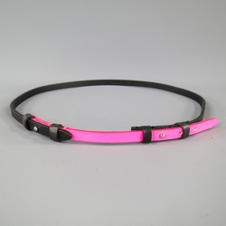 DSQUARED2 Size L Pink & Black Two Tone Leather Skinny Belt