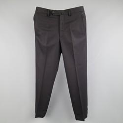 ERMENEGILDO ZEGNA Size 30 Black Solid Wool Blend Dress Pants