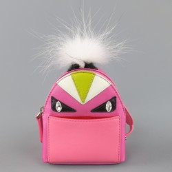 FENDI Pink Monster Micro Backpack Keychain Charm