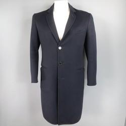 GIORGIO ARMANI 44 Navy Cashmere Coat