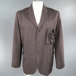 GIULIANO FUJIWARA 44 Oversized Brown Wool Drawstring Pocket Sport Coat