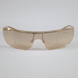GUCCI 1719 Gold Tone Metal Rose Gold Gradient Shield Sunglasses
