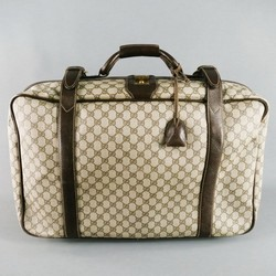 GUCCI Brown Canvas Carry on Bag