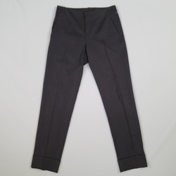 GUCCI Size 0 Black Viscose Blend  Gaberdine Cudffed Dress Pants