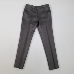 GUCCI Size 2 Black Textured Wool / Silk Tapered Leg Dress Pants