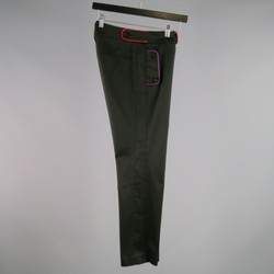 GUCCI Size 2 Black Twill Narrow Leg Trimmed  Dress Pants