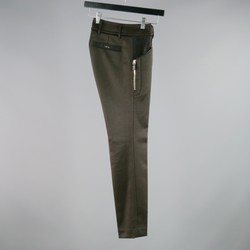 GUCCI Size 2 Brown Polyamide Blend Ribbed Straight Leg  Dress Pants