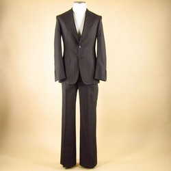 GUCCI Size 36 Regular Cotton / Silk Brown 31 33 Suit