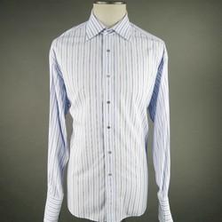 GUCCI Size XL Blue Cotton Long Sleeve Shirt