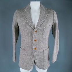 HAVERSACK 42 Gray Wool Zig Zag Pattern Jacket