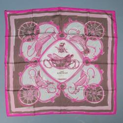 HERMES -New Springs- Pink Silk Scarf